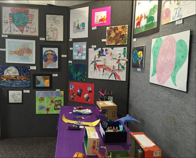 Festival of the Arts - art display
